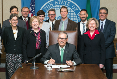 Signing of the Cannabis Research bill in 2015